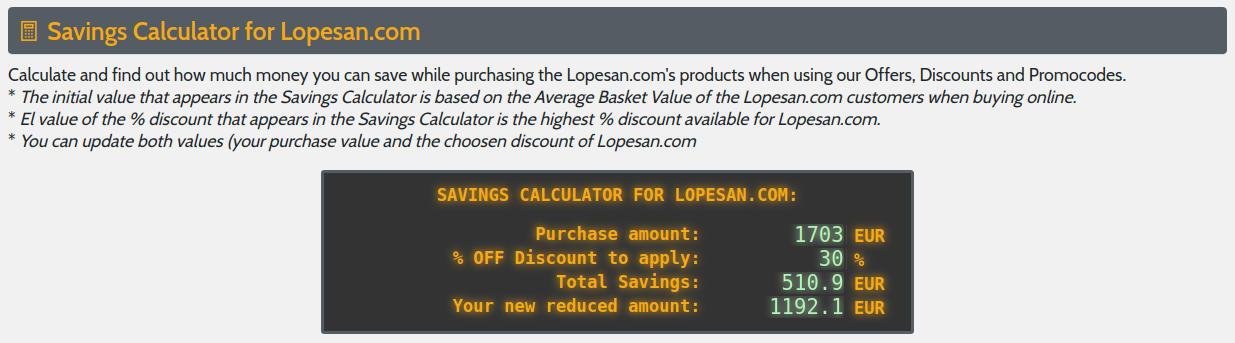 Calculadora de Ahorros en los descuentos de Monster-Coupons.com